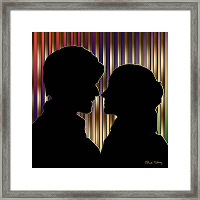 Framed Print featuring the digital art Loving Couple - Chuck Staley by Chuck Staley