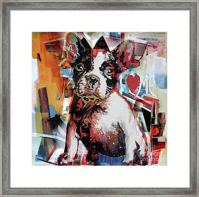 Loving Dog 44c Framed Print by Gull G