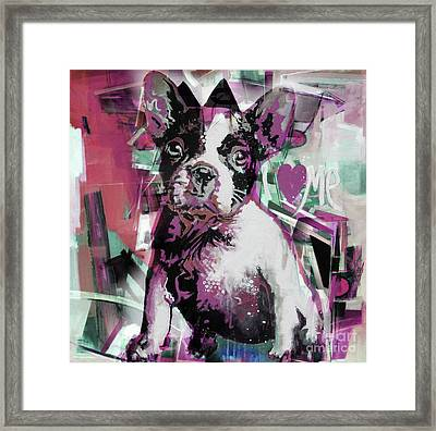 Loving Dog 66n Framed Print