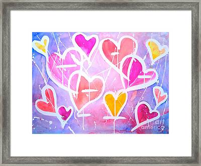 Loving Heart Framed Print by Wonju H