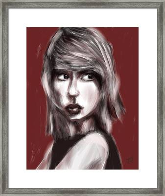 Loving Him Was Red Framed Print