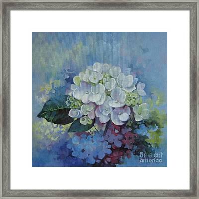 Loving Hydrangea Framed Print