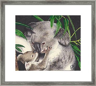 Loving Kiss Framed Print by Scarlett Royal