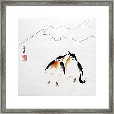 Loving Pair Framed Print by Ming Yeung