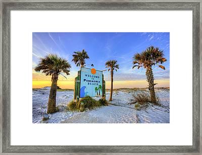 Loving Pensacola Beach Framed Print by JC Findley