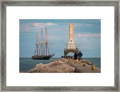 Loving Port Framed Print