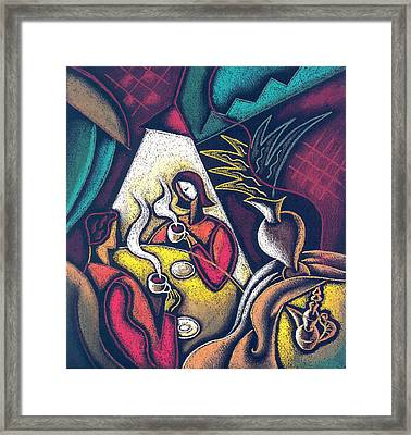 Loving Relationship Framed Print by Leon Zernitsky