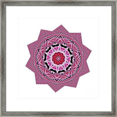 Loving Rose Mandala By Kaye Menner Framed Print