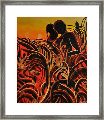 Loving Sunset Framed Print by Darly Raphael