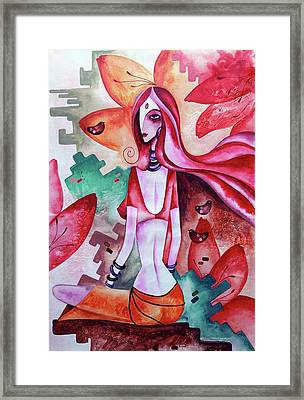Loving The Unknown - New World Framed Print