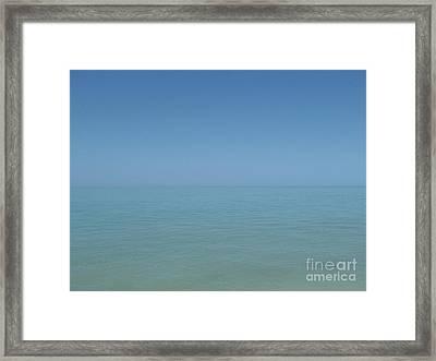 Loving Union Of Sky And Ocean Framed Print by Agnieszka Ledwon