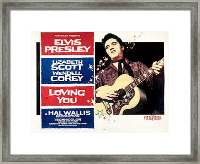 Loving You, Elvis Presley, 1957 Framed Print by Everett