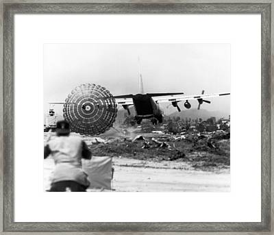 Low Altitude Supplies Framed Print by Underwood Archives