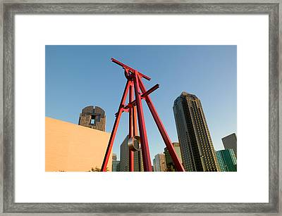 Low Angle View Of A Sculpture, Dallas Framed Print