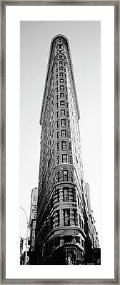 Low Angle View Of An Office Building, Flatiron Building, Manhattan, New York City, New York State Framed Print by Panoramic Images