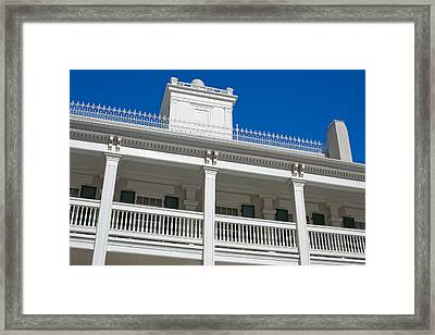 Low Angle View Of Brigham Youngs Framed Print by Panoramic Images