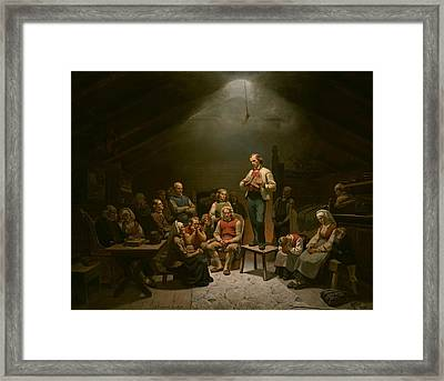 Low Church Devotion Framed Print by Mountain Dreams