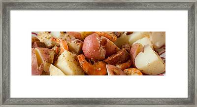 Low Country Boil Panorama Framed Print by Erin Cadigan