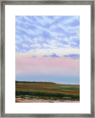 Low Country Clouds Framed Print by Eve  Wheeler