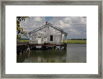 Low Country Fish Shack Framed Print