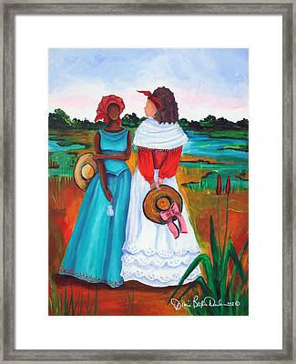 Framed Print featuring the painting Low Country Ladies by Diane Britton Dunham