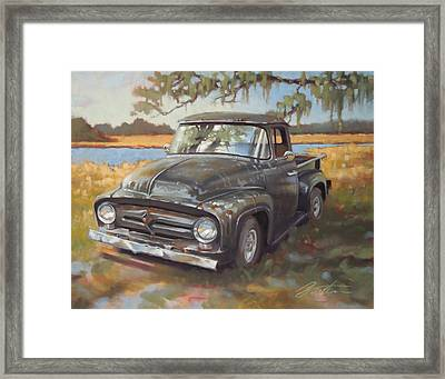 Low Country Parking Framed Print