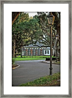 Low Country Wedding Chapel Framed Print by Margaret Palmer