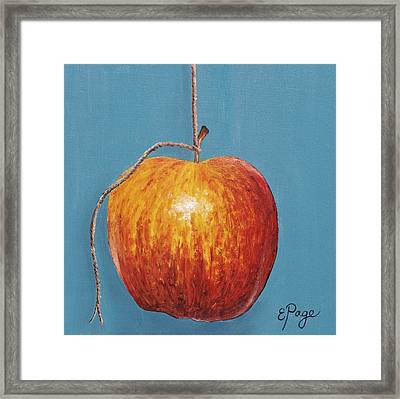 Low Hanging Apple Framed Print by Emily Page