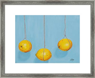 Low Hanging Lemons Framed Print by Emily Page