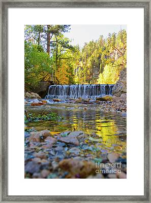 Low Look At The Falls Framed Print
