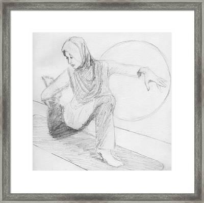Low Lunge Framed Print by Robert Alexander