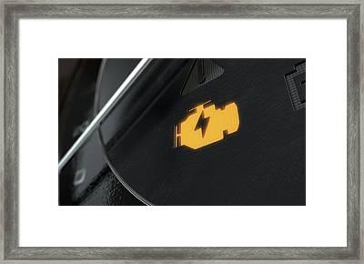 Low Petrol Dashboard Light Framed Print