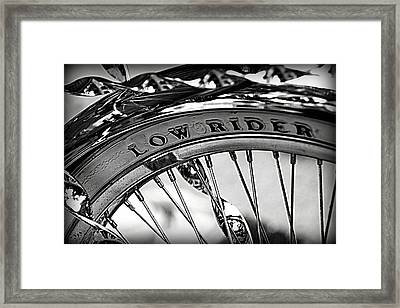 Low Rider In Black And White Framed Print by Tam Graff