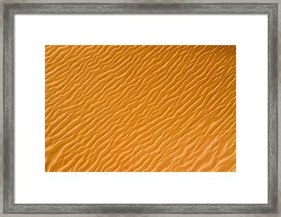 Low Rippling Dunes In The Northern Framed Print by Michael Fay