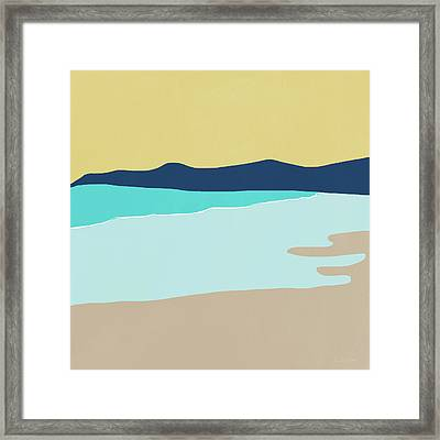 Low Tide- Art By Linda Woods Framed Print