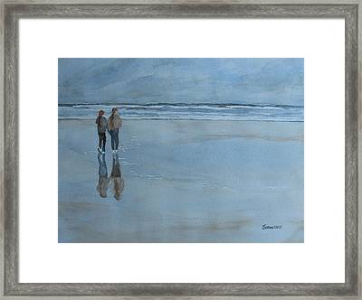 Low Tide At Agate Beach Framed Print