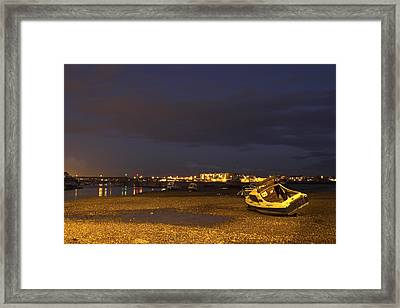 Low Tide At Dusk Framed Print