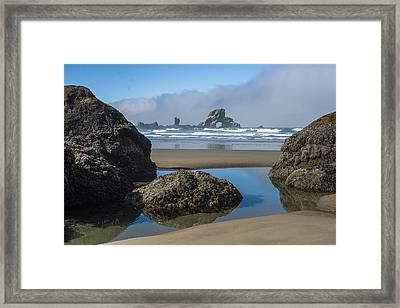 Low Tide At Ecola Framed Print