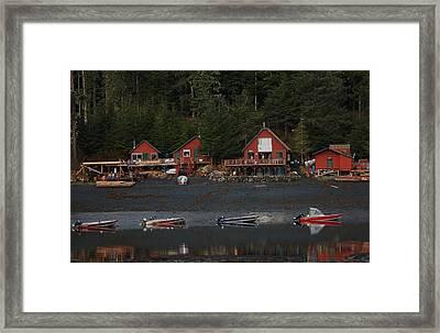 Low Tide At Fish Camp Framed Print