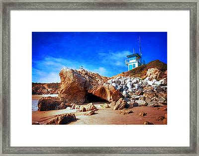 Low Tide At Leo Carillo Framed Print by Lynn Bauer