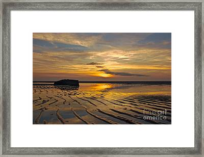 Low Tide At Mayflower Beach Framed Print