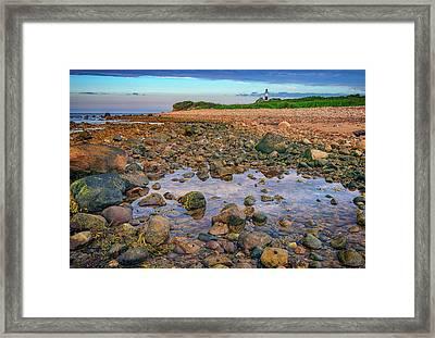 Low Tide At Montauk Point Framed Print by Rick Berk