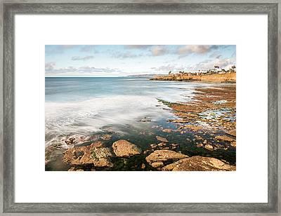 Low Tide At Sunset Cliffs Framed Print
