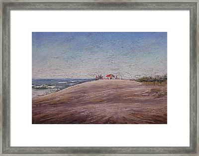 Low Tide At The Beach Framed Print by Deb Spinella