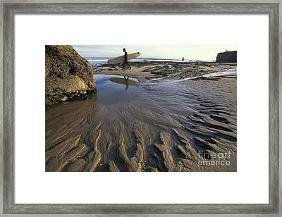 Low Tide At The Lane Framed Print by Stan and Anne Foster
