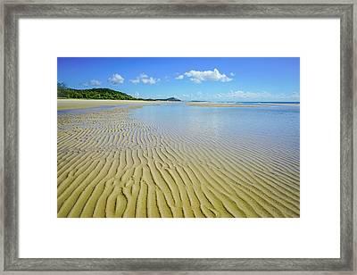 Low Tide Beach Ripples Framed Print