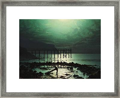Low Tide By Moonlight Framed Print by WHJ Boot