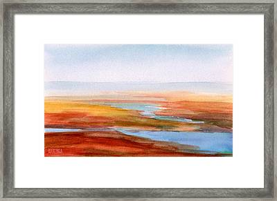 Low Tide Cape Cod Framed Print by Beverly Brown