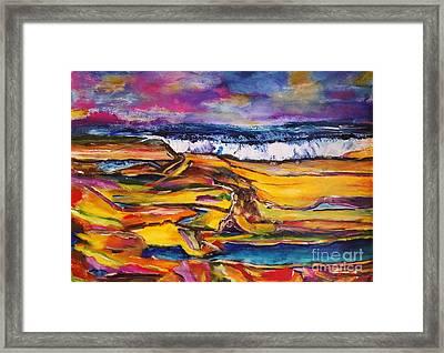 Low Tide Framed Print by Chaline Ouellet