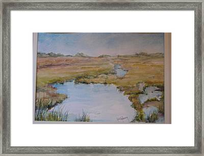Low Tide Framed Print by Dorothy Herron